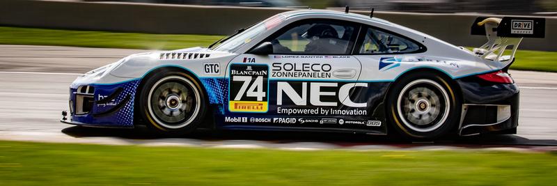 Rob Blake / uan Lopez-Santini, Porsche 997 GT3R, Mission Foods C